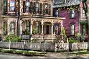 Porches Prints - House - Country Victorian Print by Mike Savad