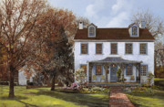 Usa Painting Prints - house Du Portail  Print by Guido Borelli