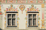 Painted Hall Photos - House facade Lindau Germany by Matthias Hauser