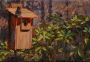 Azalea Bush Paintings - House Hunting by Sonia Kane