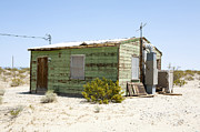 Bleak Desert Framed Prints - House in Desert, Twenty Nine Palms, Mojave Desert, California, USA, North America Framed Print by Paul Edmondson