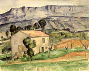 Farmhouse Paintings - House in Provence by Paul Cezanne