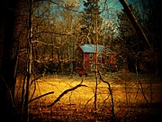 Abandoned Houses Prints - House in the Forest Print by Joyce  Kimble Smith