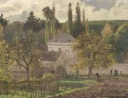 Pissarro Prints - House in the Hermitage Print by Camille Pissarro
