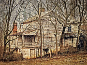 Abandoned House Photos - House In The Woods by Kathy Jennings