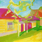 Travel Destination Painting Originals - House in Transylvania by Alice Bara
