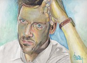 House Md Drawings - House MD by Cecile Lucenay