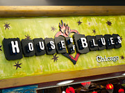 Editorial Framed Prints - House of Blues Sign Chicago Framed Print by Paul Velgos