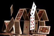 Cards Framed Prints - House of Cards Framed Print by Jan Piller