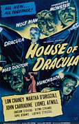 Wolfman Framed Prints - House Of Dracula, John Carradine, Lon Framed Print by Everett