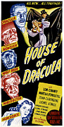 Australian Poster Framed Prints - House Of Dracula, Left From Top John Framed Print by Everett