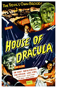 Wolfman Prints - House Of Dracula, Top From Left Glenn Print by Everett