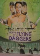 Chinese American Drawings - House Of Flying Daggers by Sandeep Kumar Sahota