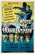 Monster House Posters - House Of Frankenstein, Boris Karloff Poster by Everett