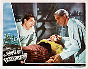 Lobbycard Prints - House Of Frankenstein, From Left J Print by Everett