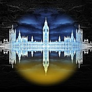 Big Ben Posters - House of Horror Poster by Sharon Lisa Clarke
