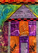 Main Street Mixed Media Prints - House of Lyrics Print by Angela L Walker