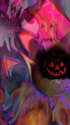 Jack-o-lanterns Posters - House of pain Poster by Kevin Caudill