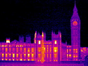 Palace Of Westminster Prints - House Of Parliament, Uk, Thermogram Print by Tony Mcconnell