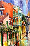 Balconies Paintings - House of the Rising Sun by Diane Millsap
