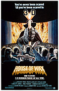 1950s Poster Art Framed Prints - House Of Wax, Reissue Poster Art, 1953 Framed Print by Everett