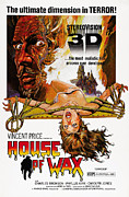 Horror Movies Framed Prints - House Of Wax, Top Left Vincent Price Framed Print by Everett