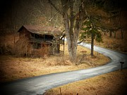 Old Houses Photos - House on a Curve by Joyce  Kimble Smith