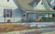 House Pastels Prints - House on Cherokee Street Print by Donald Maier