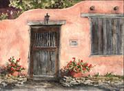 Santa Fe Paintings - House On Delgado Street by Sam Sidders