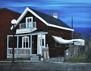Old Houses Painting Metal Prints - House on Hadley Street Metal Print by Reb Frost