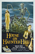 Jbp10ap23 Framed Prints - House On Haunted Hill, Alternate Poster Framed Print by Everett