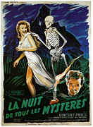 1950s Movies Art - House On Haunted Hill, Carol Ohmart by Everett