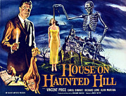 1950s Poster Art Framed Prints - House On Haunted Hill, Left Vincent Framed Print by Everett