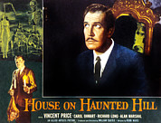 Sitting On Hill Metal Prints - House On Haunted Hill, Vincent Price Metal Print by Everett