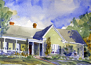 Historic Architecture Paintings - House On Rogers by Kent Brewer