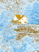 House On The Hill Prints - House On The Hill Print by Methune Hively