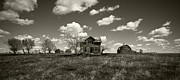 Run Down Shack Prints - House on the Prairie Print by Patrick Ziegler