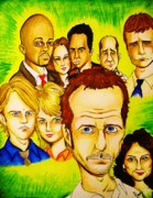 Gregory House Art - House by Penny  Elliott