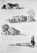 Works Progress Administration Art - House Plans For Resettlement Project by Everett