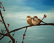 Becka Noel - House Sparrows on a...
