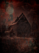 Haunted House Digital Art Metal Prints - House With A Story To Tell Metal Print by Mimulux patricia no  