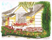 Bricks Originals - House-with-garden-in-Bel-Air-California by Carlos G Groppa