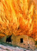 Anasazi Posters - House with the Flaming Roof Poster by Frank Houck