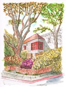 Arquitectura Prints - House-with-two-trees-holloway-ave-west-hollywood-ca Print by Carlos G Groppa