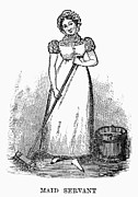 Cruikshank Art - Housemaid, 1827 by Granger