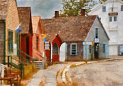 House Work Prints - Houses - Maritime Village  Print by Mike Savad