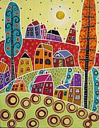 Houses And Trees Print by Karla Gerard