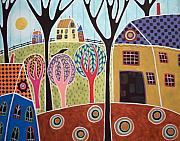 Karla Gerard - Houses Barn And Trees
