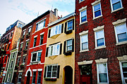 Brick Buildings Metal Prints - Houses in Boston Metal Print by Elena Elisseeva