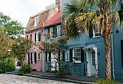 Landmarks Framed Prints - Houses in Charleston SC Framed Print by Susanne Van Hulst